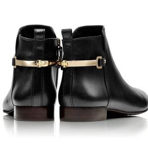 Authentic TORY BURCH Jess Black  Leather Booties